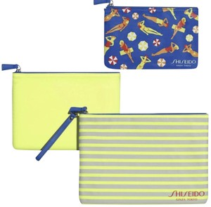 shiseido blue Clutch