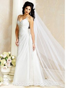 Maggie Sottero Ivory 7038 Destination Wedding Dress Size 8 (M)
