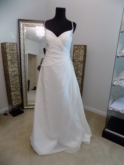 Maggie Sottero Ivory 7038 Destination Wedding Dress Size 8 (M) Image 5