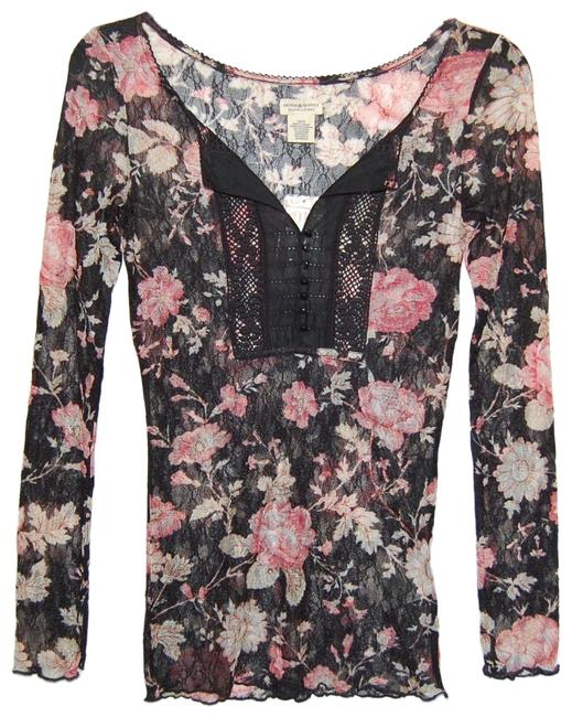 Preload https://img-static.tradesy.com/item/25637926/denim-and-supply-black-pink-floral-stretchy-long-sleeve-tee-shirt-size-2-xs-0-1-650-650.jpg
