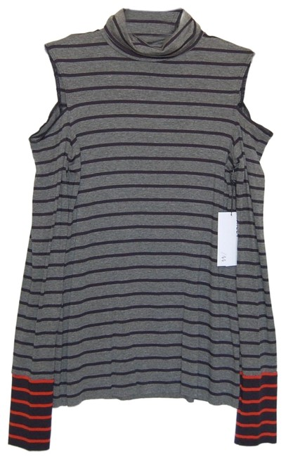 Preload https://img-static.tradesy.com/item/25637947/bailey-44-marengonavy-striped-long-sleeve-mock-neck-cold-shoulder-stretchy-tunic-size-4-s-0-1-650-650.jpg