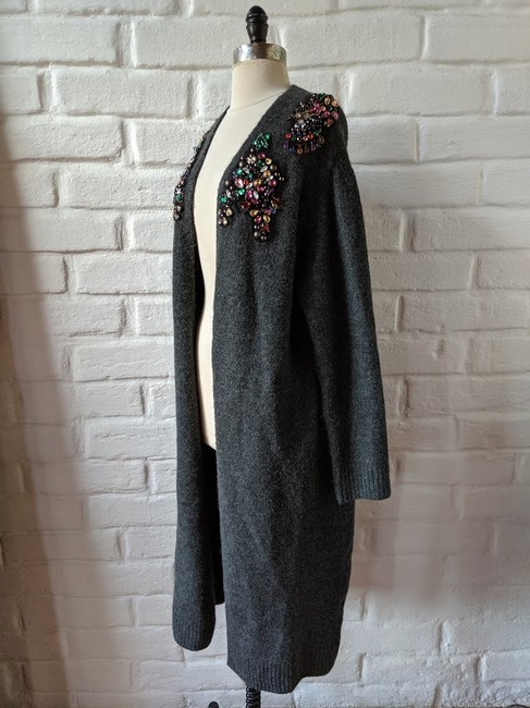 Zara Embellished Jewelled Knit Cardigan Image 1