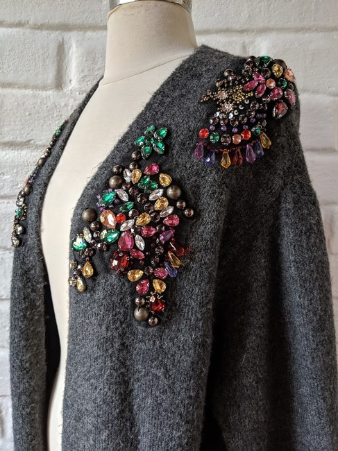 Zara Embellished Jewelled Knit Cardigan Image 5