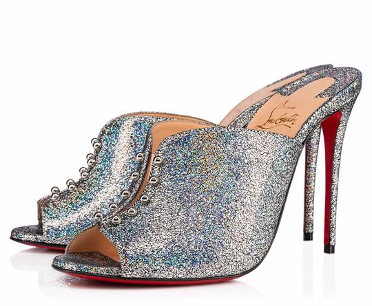 Christian Louboutin Iridescent Metallic Shimmer Wedges multicolor Mules Image 0