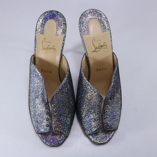 Christian Louboutin Iridescent Metallic Shimmer Wedges multicolor Mules Image 3