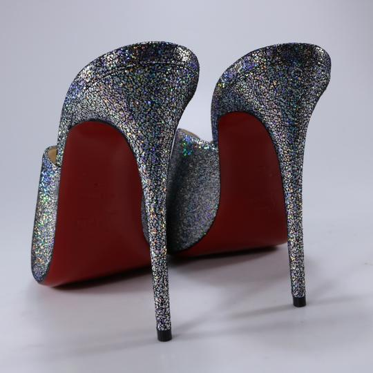 Christian Louboutin Iridescent Metallic Shimmer Wedges multicolor Mules Image 6