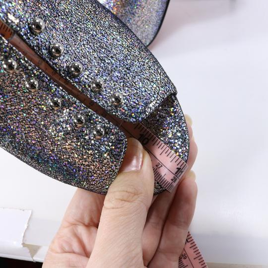 Christian Louboutin Iridescent Metallic Shimmer Wedges multicolor Mules Image 9