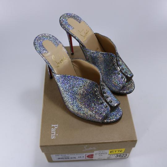 Christian Louboutin Iridescent Metallic Shimmer multicolor Mules Image 1