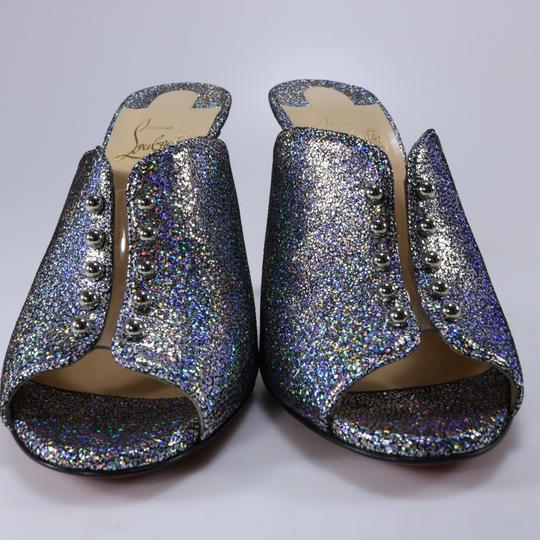Christian Louboutin Iridescent Metallic Shimmer multicolor Mules Image 10