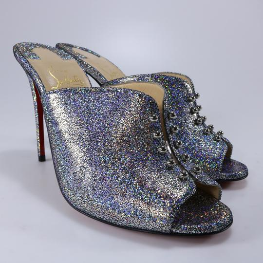 Christian Louboutin Iridescent Metallic Shimmer multicolor Mules Image 2