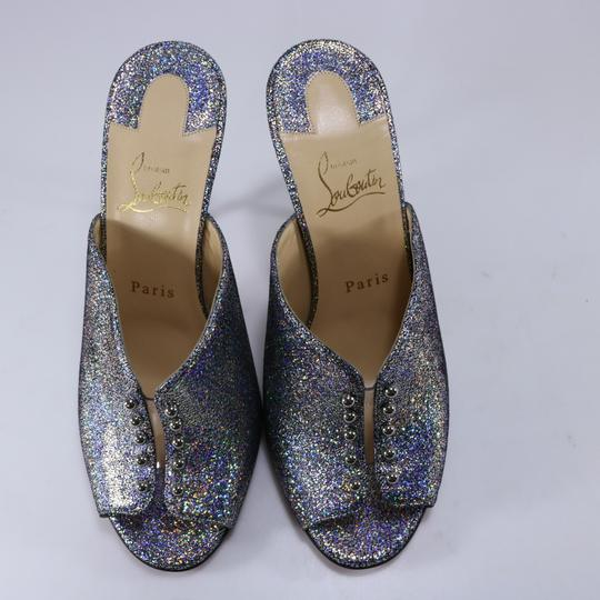 Christian Louboutin Iridescent Metallic Shimmer multicolor Mules Image 9