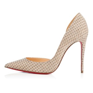 Christian Louboutin Iriza Quadro Lurex Iriza Quadro Iriza Pigalle So Kate Nude Pumps