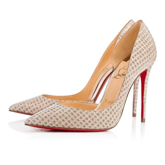 Christian Louboutin Iriza Quadro Lurex Iriza Quadro Iriza Pigalle So Kate Nude Pumps Image 1