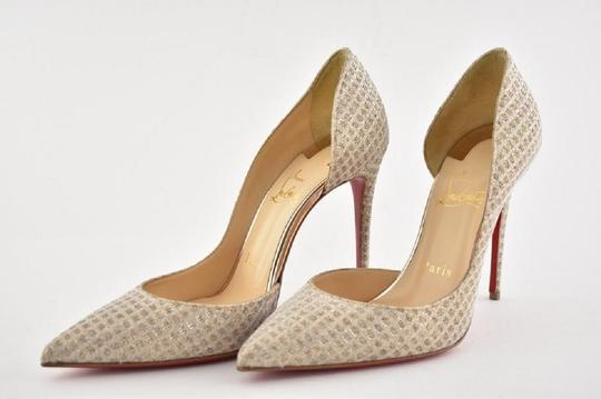 Christian Louboutin Iriza Quadro Lurex Iriza Quadro Iriza Pigalle So Kate Nude Pumps Image 10