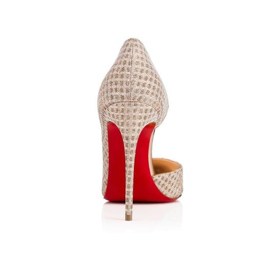 Christian Louboutin Iriza Quadro Lurex Iriza Quadro Iriza Pigalle So Kate Nude Pumps Image 2