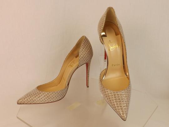 Christian Louboutin Iriza Quadro Lurex Iriza Quadro Iriza Pigalle So Kate Nude Pumps Image 3