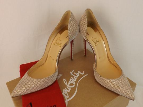 Christian Louboutin Iriza Quadro Lurex Iriza Quadro Iriza Pigalle So Kate Nude Pumps Image 4