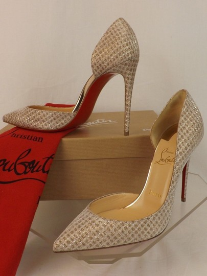 Christian Louboutin Iriza Quadro Lurex Iriza Quadro Iriza Pigalle So Kate Nude Pumps Image 5