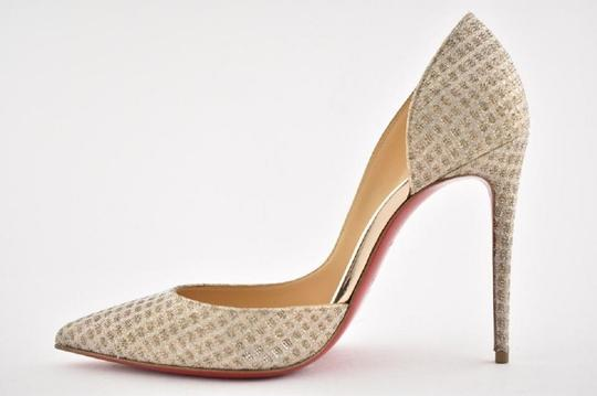 Christian Louboutin Iriza Quadro Lurex Iriza Quadro Iriza Pigalle So Kate Nude Pumps Image 9