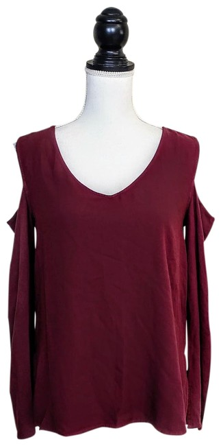Preload https://img-static.tradesy.com/item/25638095/anthropologie-burgundy-red-cloth-and-stone-cold-shoulder-blouse-size-4-s-0-1-650-650.jpg
