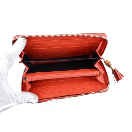 Gucci Pebbled Soft Leather Clutch Zippy Wallet Image 4