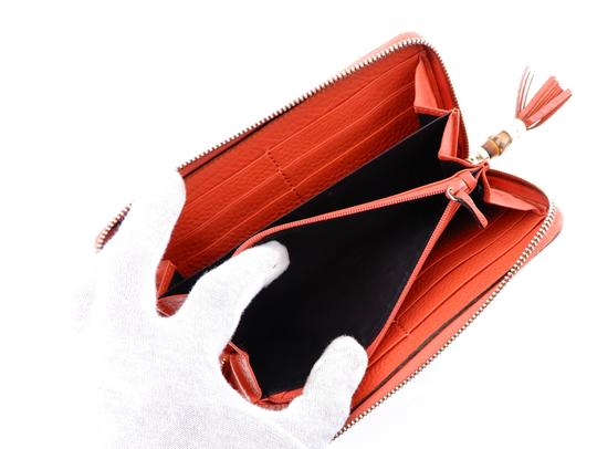Gucci Pebbled Soft Leather Clutch Zippy Wallet Image 5