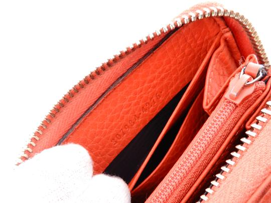 Gucci Pebbled Soft Leather Clutch Zippy Wallet Image 6