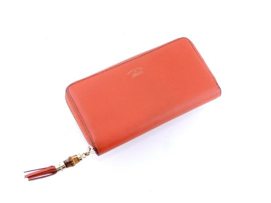 Gucci Pebbled Soft Leather Clutch Zippy Wallet Image 8
