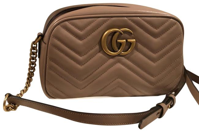 Item - Marmont Gg Small Camera Dusty Pink Lambskin Leather Cross Body Bag