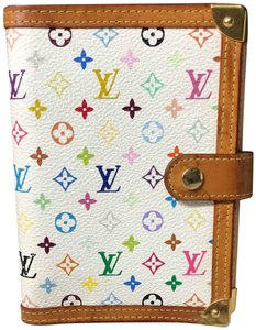 Louis Vuitton Agenda PM Multicolor white