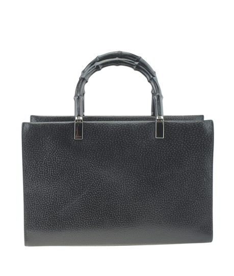 Gucci Leather Tote in Black Image 4