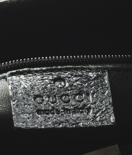 Gucci Leather Tote in Black Image 9