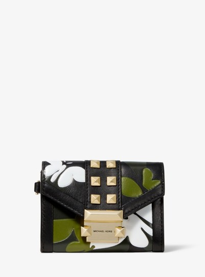 Michael Kors MICHAEL KORS Whitney Small Butterfly Camo Leather wallet Image 6