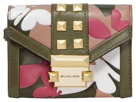 Preload https://img-static.tradesy.com/item/25638261/michael-kors-olive-green-combo-whitney-small-butterfly-camo-leather-wallet-0-1-540-540.jpg