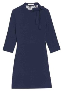 Sandro short dress Navy Blue Lace Jovance Skirt Mini on Tradesy