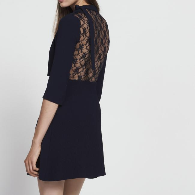 Sandro short dress Navy Blue Lace Jovance Skirt Mini on Tradesy Image 1