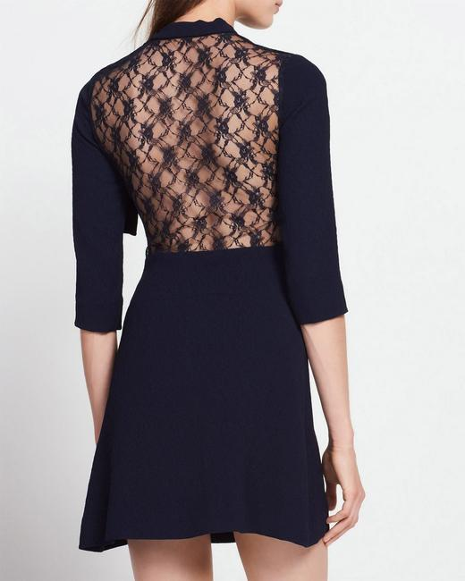 Sandro short dress Navy Blue Lace Jovance Skirt Mini on Tradesy Image 4