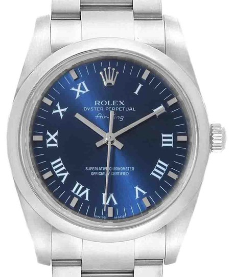 Preload https://img-static.tradesy.com/item/25638322/rolex-blue-roman-air-king-34-dial-steel-mens-114200-watch-0-1-540-540.jpg