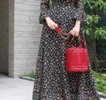 Chanel Bucket Vintage Drawstring Tote in Red Image 9