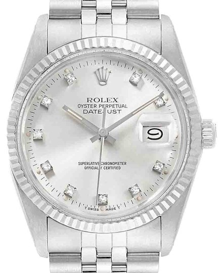 Preload https://img-static.tradesy.com/item/25638363/rolex-silver-datejust-vintage-steel-white-gold-diamond-mens-16014-watch-0-1-540-540.jpg