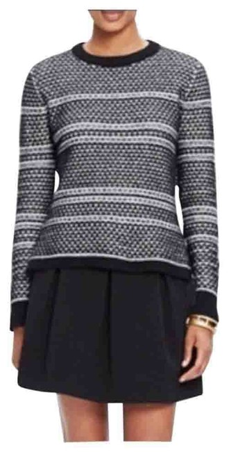 Preload https://img-static.tradesy.com/item/25638367/madewell-fineprint-large-black-and-white-sweater-0-1-650-650.jpg