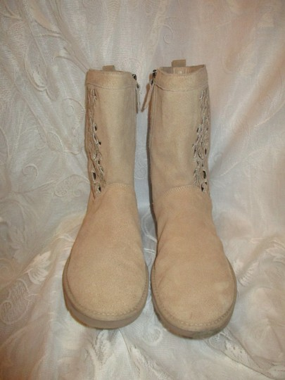 UGG Australia Lo Pro Floral Leather Suede Onm003 sand Boots Image 6