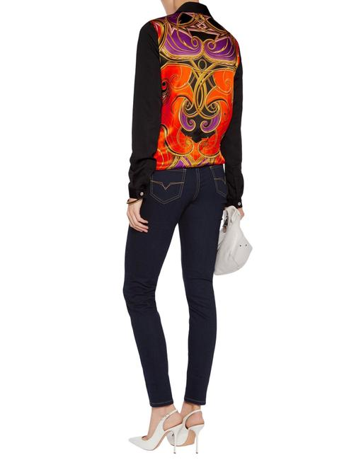 Versace Jeans Collection Italian Denim Skinny Jeans-Dark Rinse Image 2