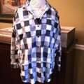 Madewell Button Down Shirt Blue & White Image 1