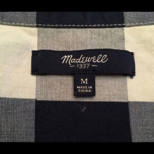 Madewell Button Down Shirt Blue & White Image 3