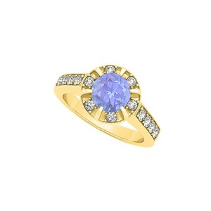 Marco B Newest Gemstone Tanzanite Fancy Fashion Ring with Cubic Zirconia