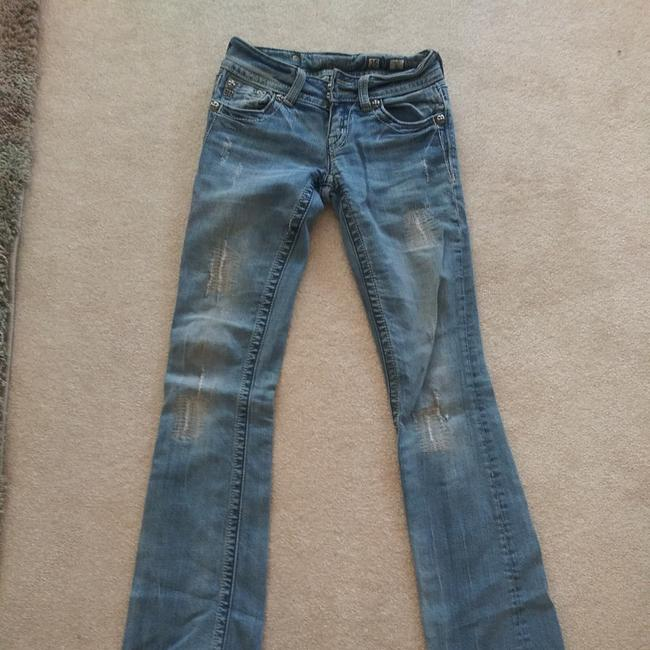 Miss Me Boot Cut Jeans-Distressed Image 6