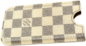 Louis Vuitton Auth LOUIS VUITTON Damier Azur Canvas Phone Holder Case Bag Accessory
