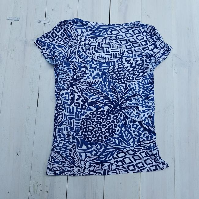 Lilly Pulitzer Free Shipping T Shirt Blue and white Image 2