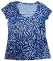 Lilly Pulitzer Free Shipping T Shirt Blue and white Image 0
